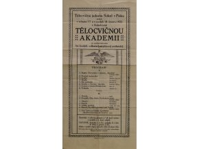 Pozvánka na tělocvičnou akademii, Sokol v Písku, 1923Pozvánka na tělocvičnou akademii, Sokol v Písku, 1923