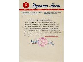 2Potvrzení o odpr. hodinách Dynamo Slavia, 1950Potvrzení o odpr. hodinách Dynamo Slavia, 1950