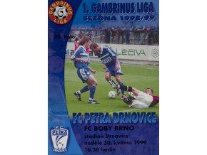 Program Drnovice vs. Brno, 1999Program Drnovice vs. Brno, 1999