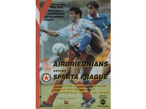 Program Airdrienonians vs. Sparta, 1992Program Airdrienonians vs. Sparta, 1992