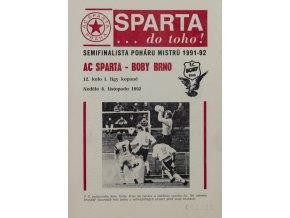 Program Sparta vs. Brno 1992Program Sparta vs. Brno 1992