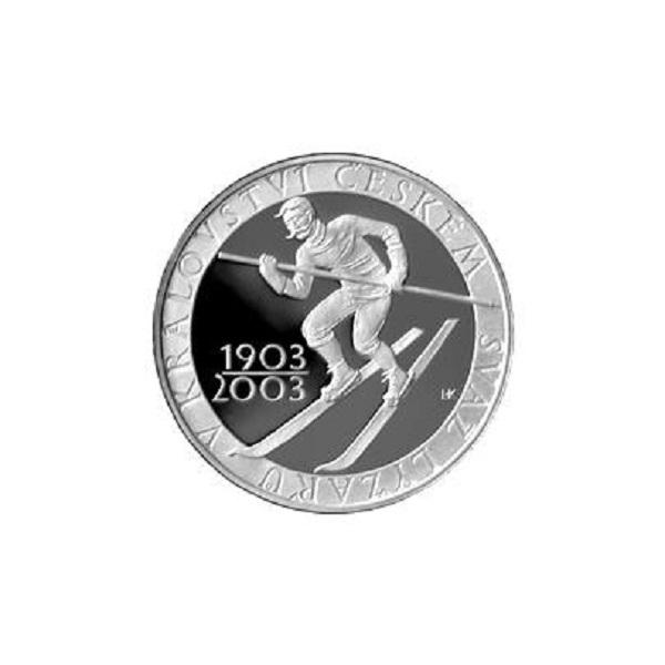 Stříbrná mince 1903 - 2003 200 kč svaz lyžařů