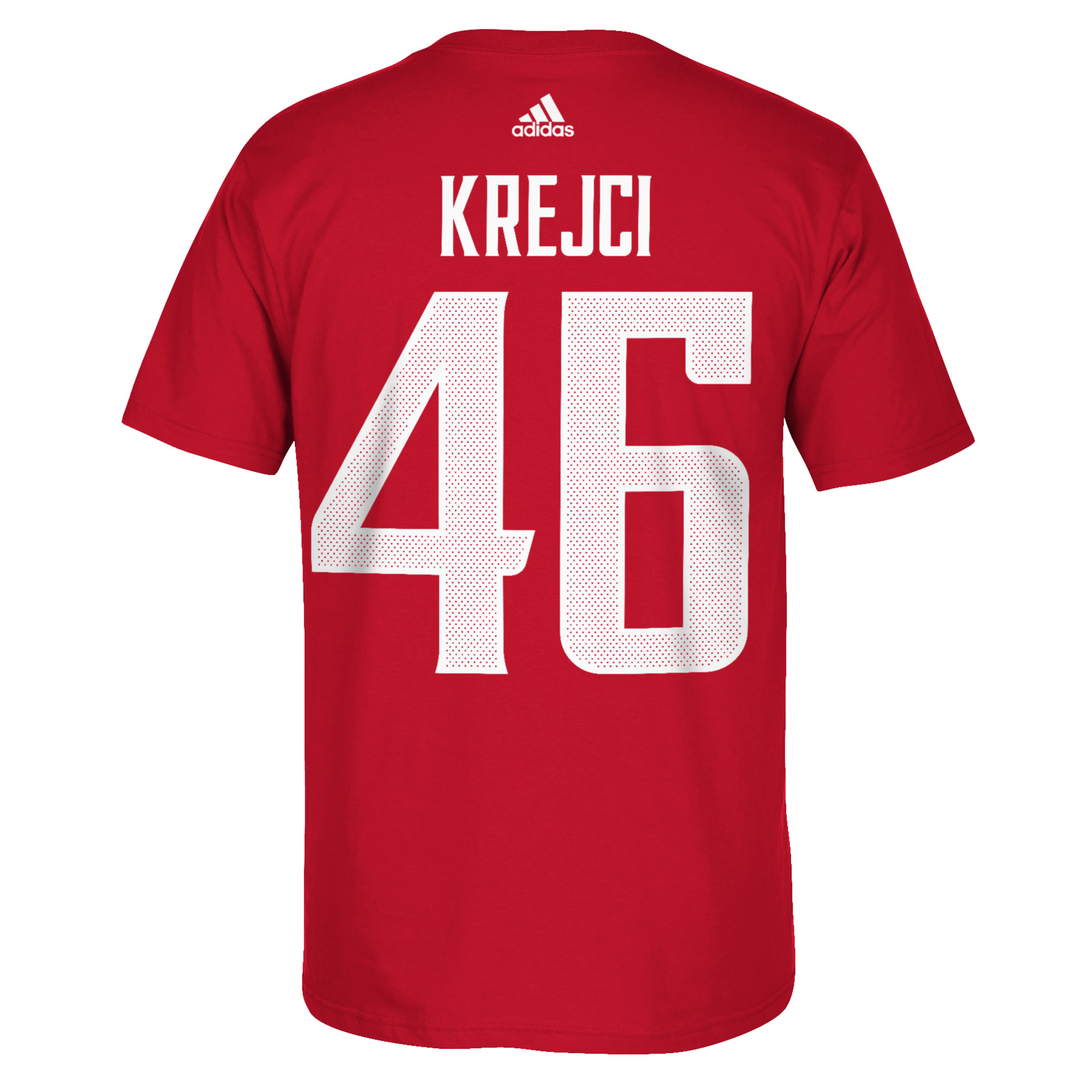 Team Czech Republic 2016 World Cup of Hockey Name & Number T-Shirt - David Krejci - Mens Barva: červená, Velikost: S