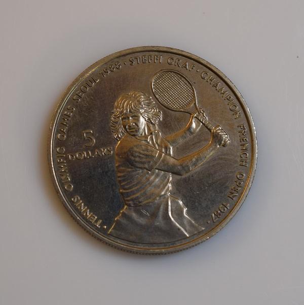 Pamětní mince 5 DOLLARS STEFFI GRAF
