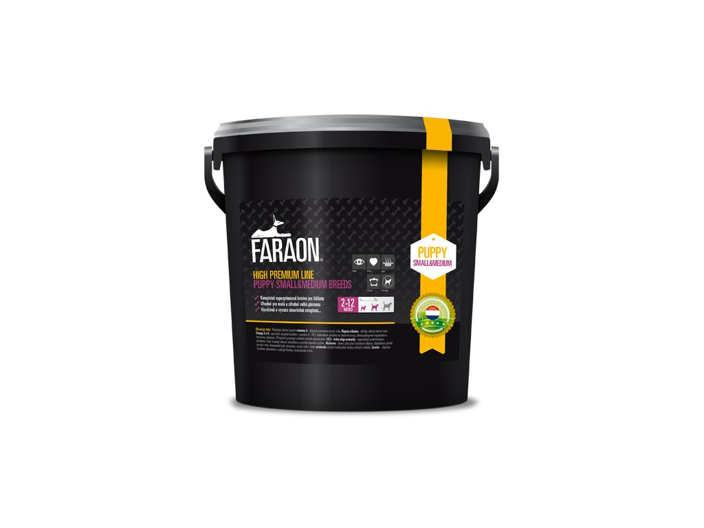 faraon high premium puppy small and medium breed granule 45 kg 7 1