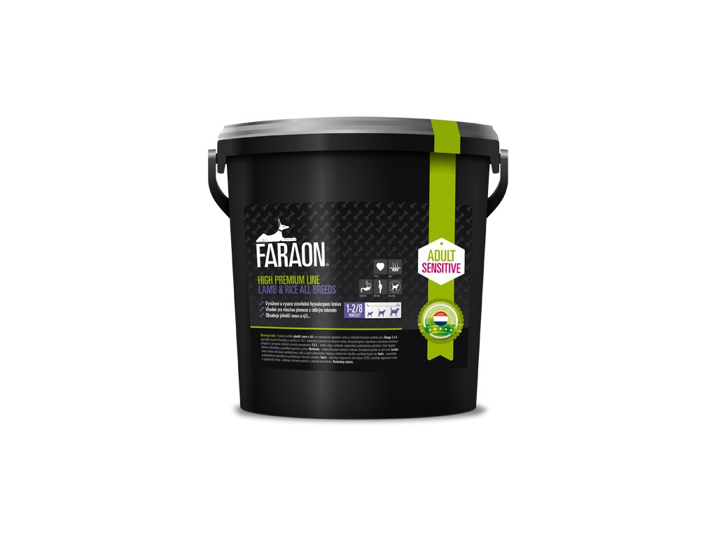 faraon high premium sensitive lamb and rice all breed granule 10 kg 28 1