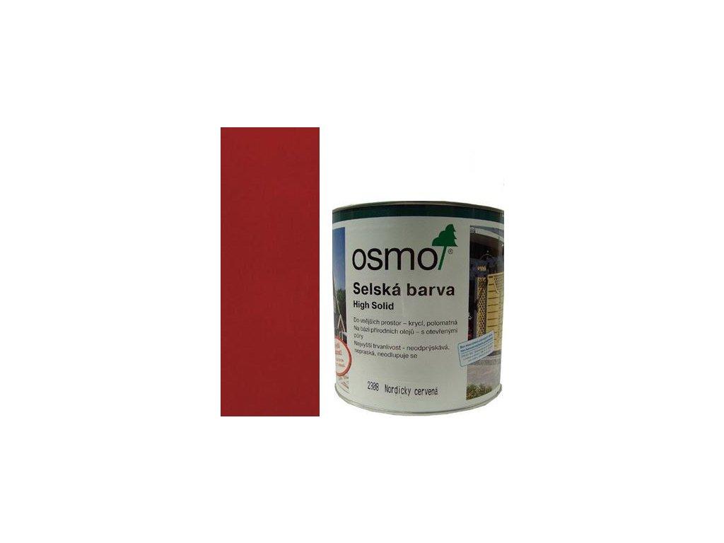 Osmo Sedliacka farba 25L 2308 nordické červená  + darček v hodnote až 7,5 EUR