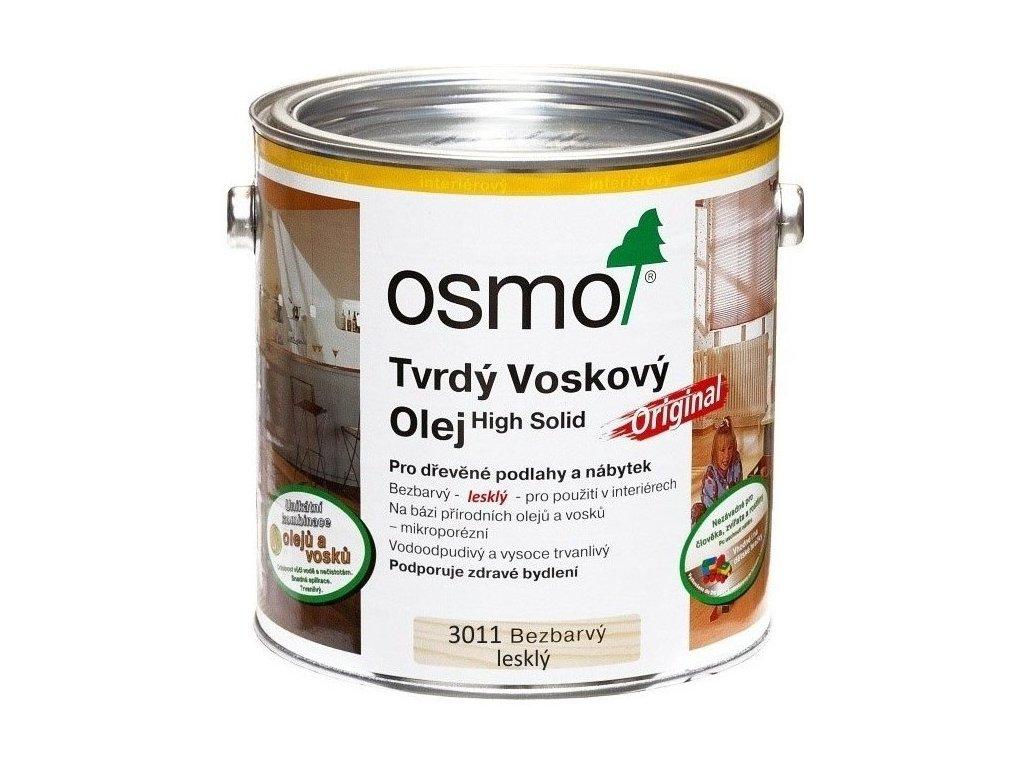 Osmo Tvrdý voskový olej ORIGINAL 2,5L 3011 bezfarebný, lesklý  + darček v hodnote až 7,5 EUR