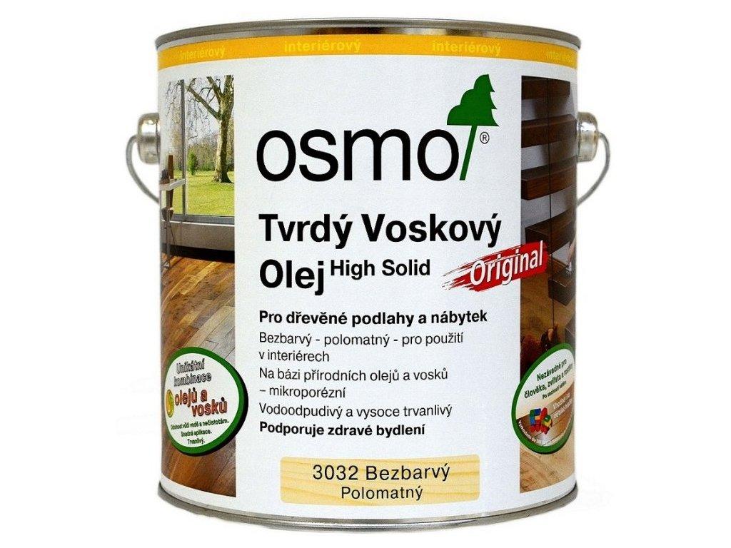 Osmo Tvrdý voskový olej ORIGINAL 0,75L 3032 bezfarebný, hodváb. polomat