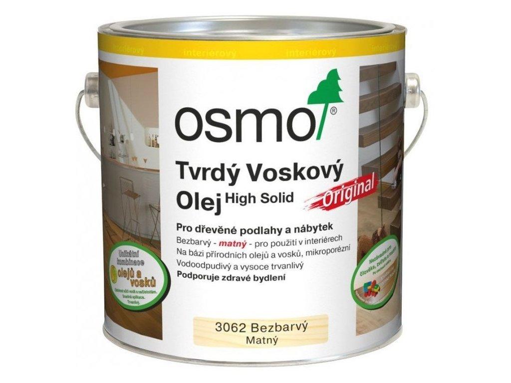 Osmo Tvrdý voskový olej ORIGINAL 2,5L 3062 bezfarebný, mat  + darček v hodnote až 7,5 EUR