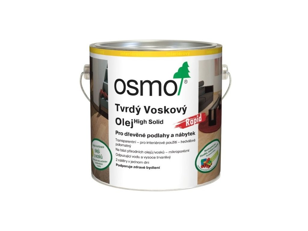 Osmo Tvrdý voskový olej RAPID 25L 3232 bezfarebný hedvábný polomat  + darček v hodnote až 7,5 EUR