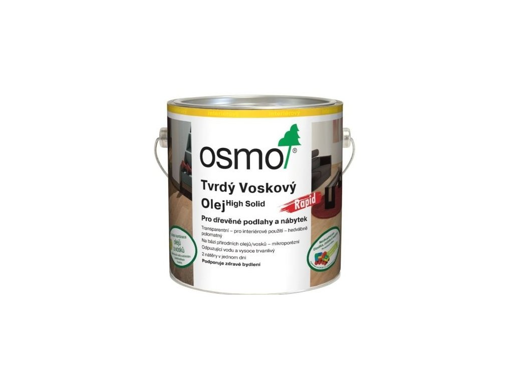 Osmo Tvrdý voskový olej RAPID 2,5L 3262 bezfarebný matný  + darček v hodnote až 7,5 EUR