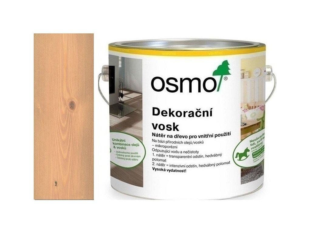 Osmo Dekoračný vosk transparentný 2,5L 3102 Buk ľahko parený  + darček v hodnote až 7,5 EUR