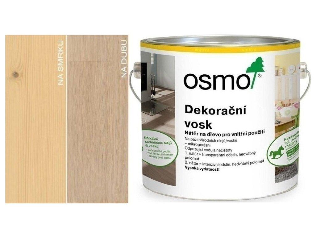 Osmo Dekoračný vosk transparentný 2,5L 3136 Breza  + darček v hodnote až 7,5 EUR