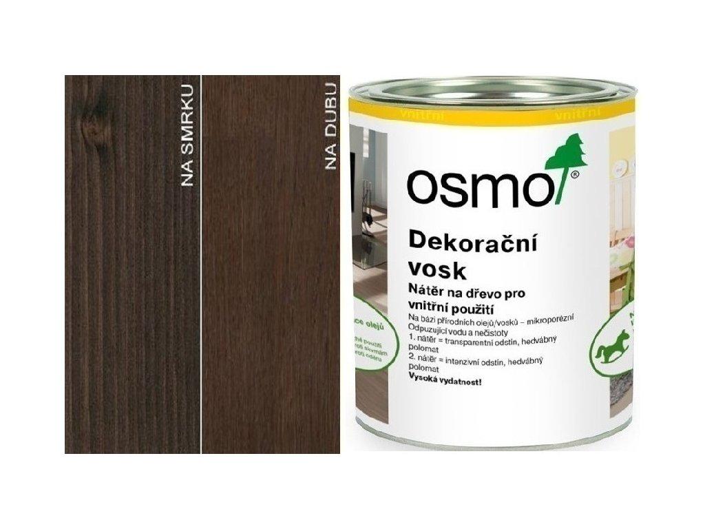 Osmo Dekoračný vosk transparentný 0,75L 3161 Ebenové drevo