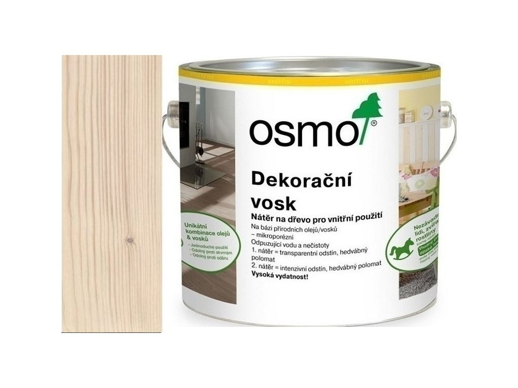 Osmo dekoračný vosk intenzívne odtiene 2,5L 3172 Hodváb  + darček v hodnote až 7,5 EUR
