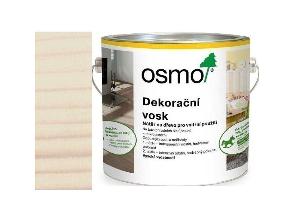 Osmo dekoračný vosk intenzívne odtiene 2,5L 3186 Biela matná  + darček v hodnote až 7,5 EUR