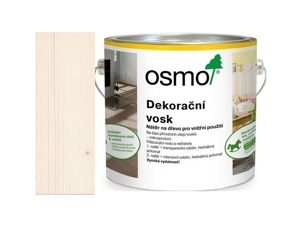 Osmo dekoračný vosk intenzívne odtiene 2,5L 3188 Sneh  + darček v hodnote až 7,5 EUR