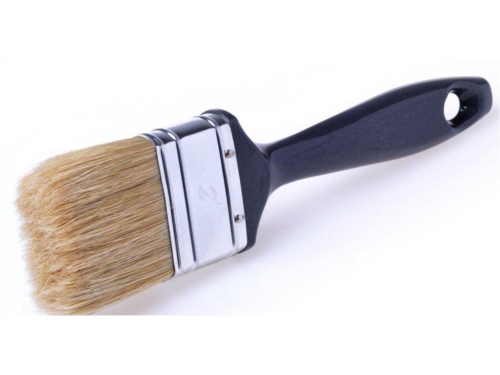 Plochý štetec SHADOW, štetina na syntetické farby, laky, lazúry, veľ. 40 mm