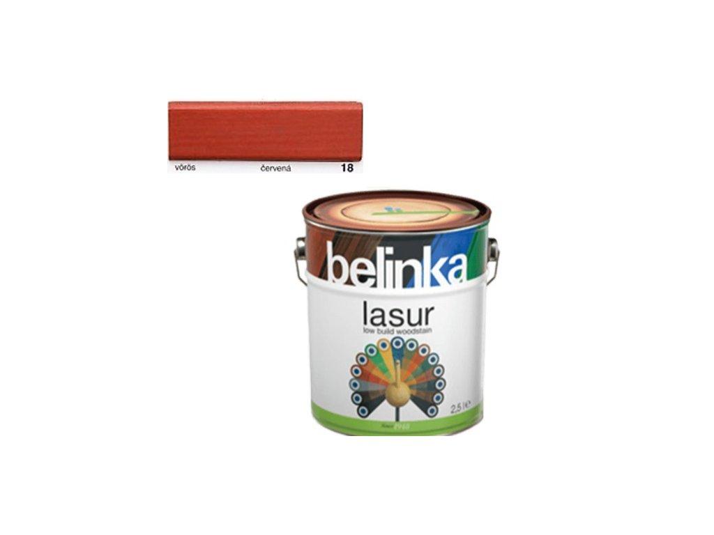 Belinka LASUR 18 červená 0,75 L