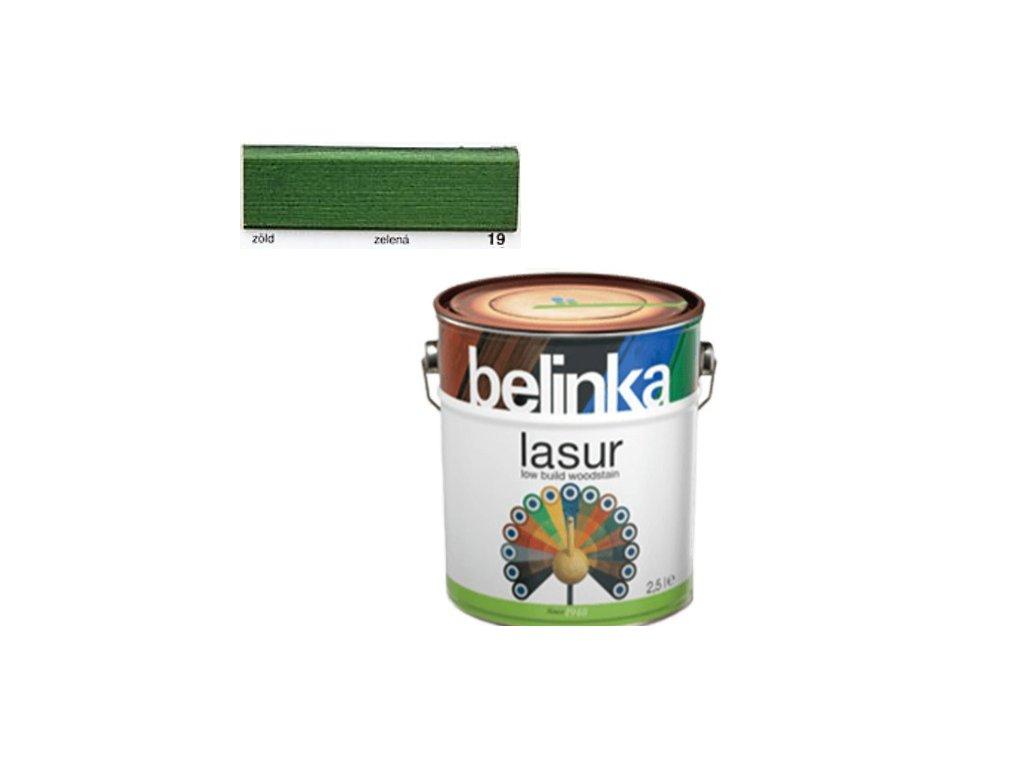 Belinka LASUR 19 zelená 2,5 L