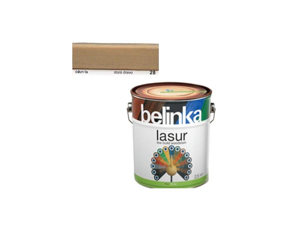 Belinka LASUR 28 staré drevo 0,75 L