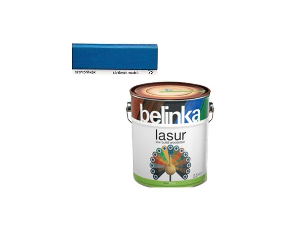 Belinka LASUR 72 (20) modrá 2,5 L