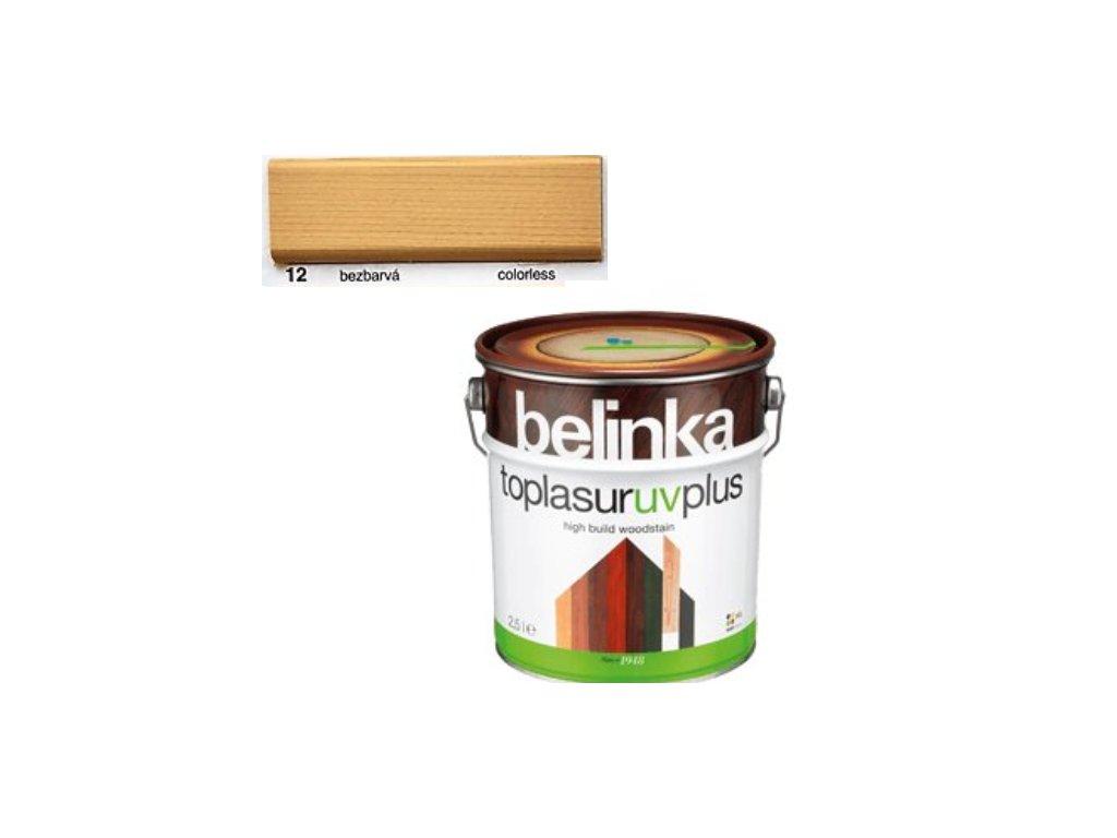 Belinka Toplasur UV PLUS 12 bezfarebná 10 L  + darček v hodnote až 7,5 EUR