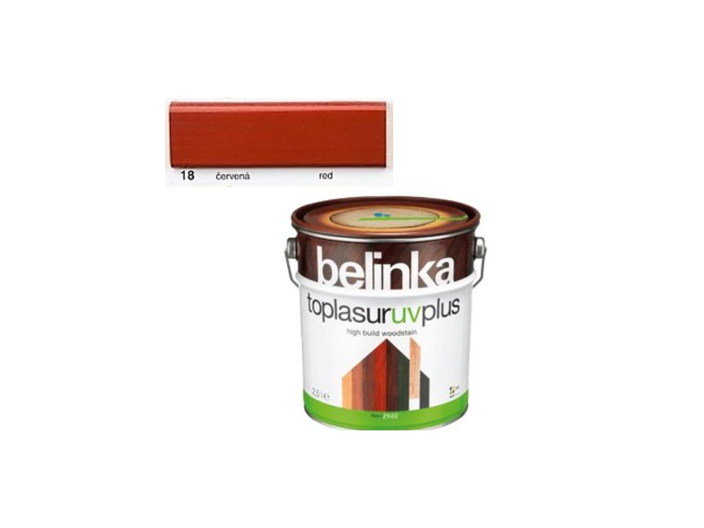 Belinka Toplasur UV PLUS 18 červená 0,75 L