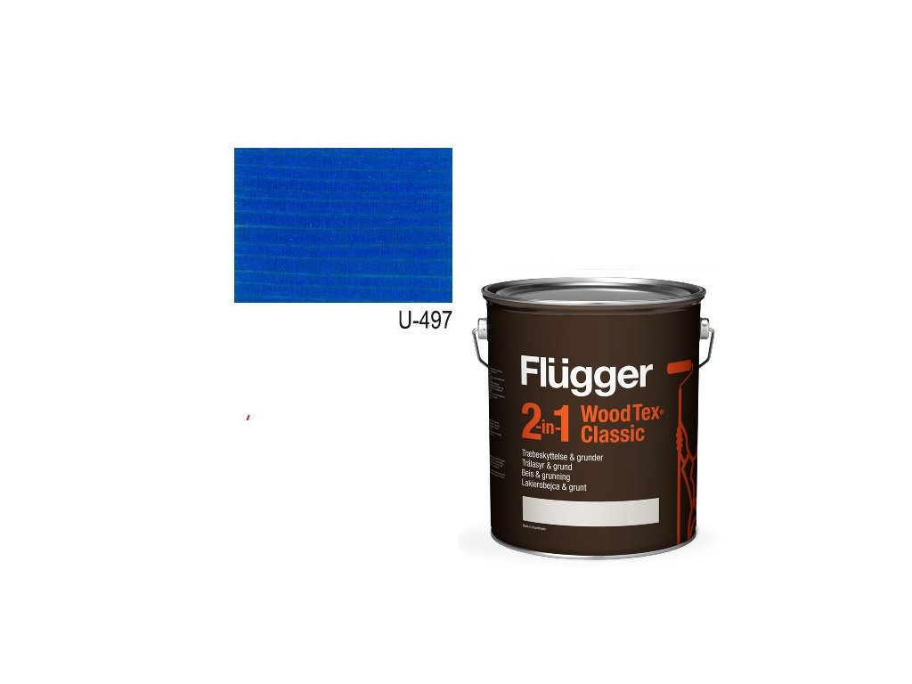 Flügger Wood Tex - Classic 2v1 (predtým Flügger 2v1 Classic) - lazúrovacia lak- 0,7l odtieň U-497
