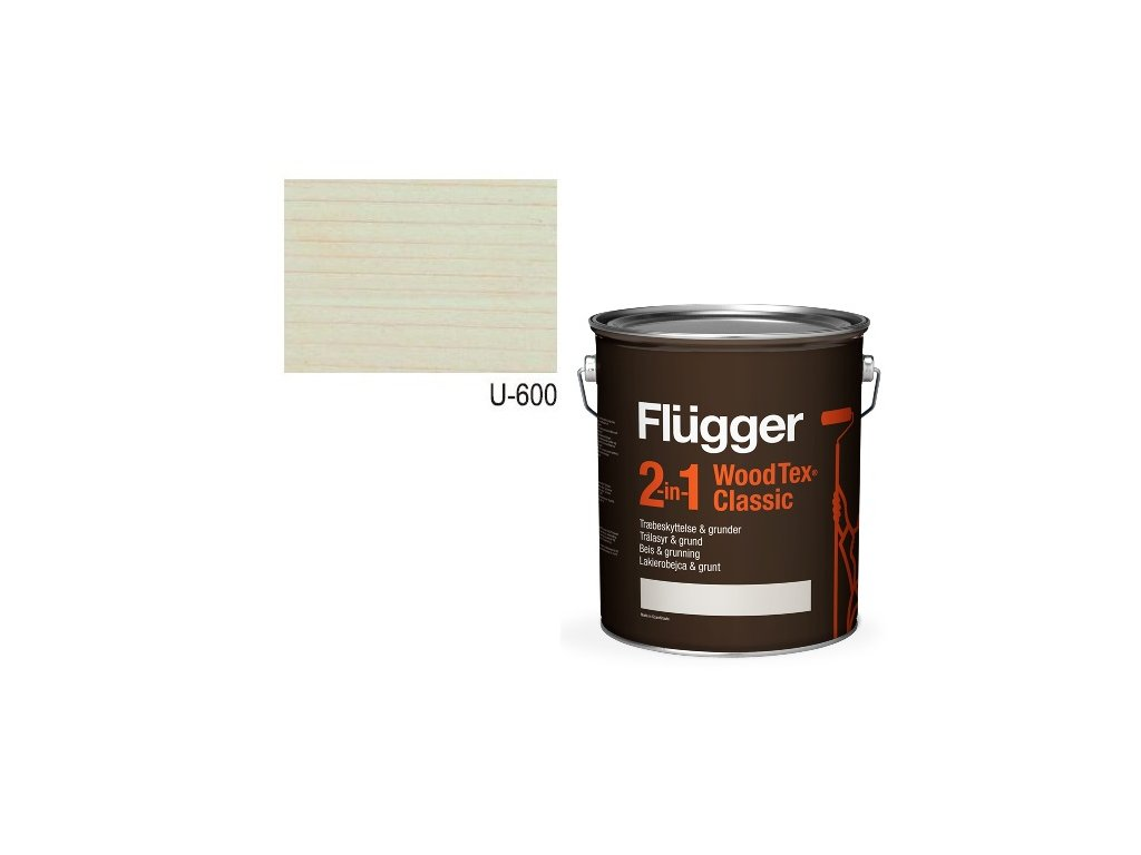Flügger Wood Tex - Classic 2v1 (predtým Flügger 2v1 Classic) - lazúrovacia lak- 0,7l odtieň U-600