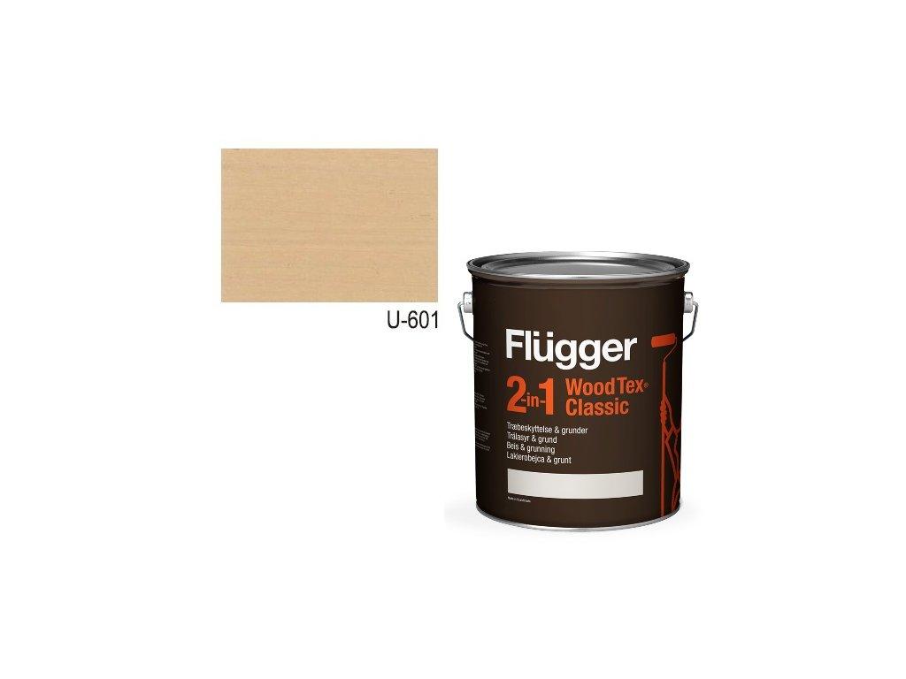 Flügger Wood Tex - Classic 2v1 (predtým Flügger 2v1 Classic) - lazúrovacia lak- 0,7l odtieň U-601