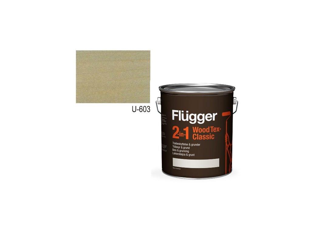 Flügger Wood Tex - Classic 2v1 (predtým Flügger 2v1 Classic) - lazúrovacia lak- 0,7l odtieň U-603