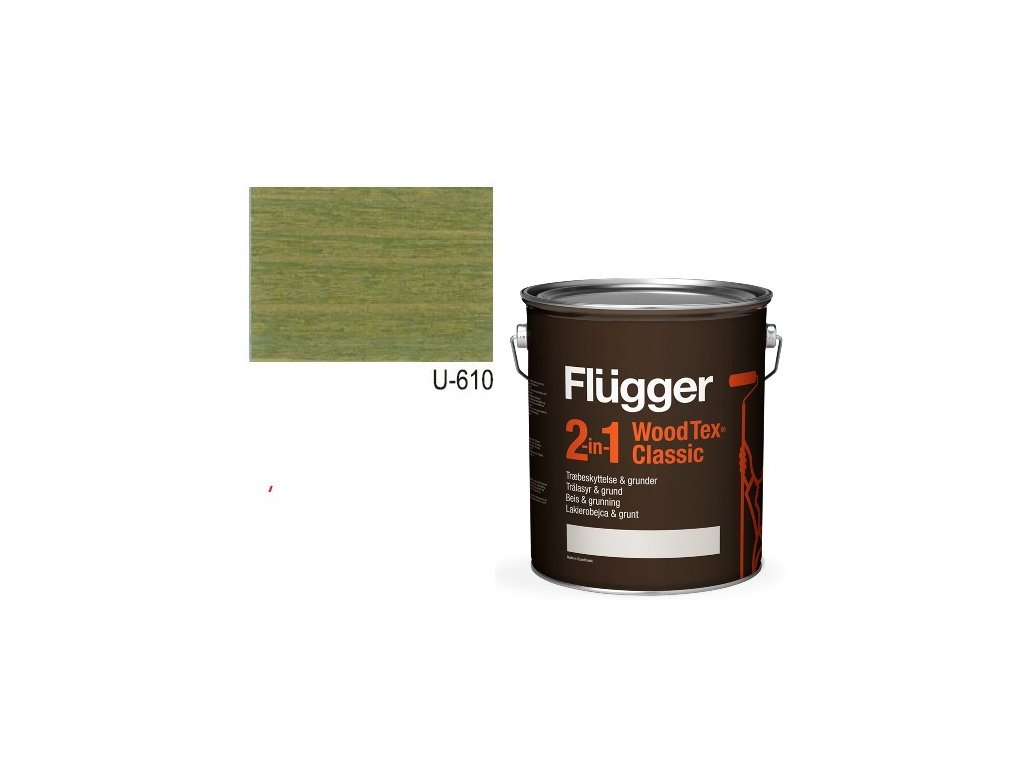 Flügger Wood Tex - Classic 2v1 (predtým Flügger 2v1 Classic) - lazúrovacia lak- 0,7l odtieň U-610