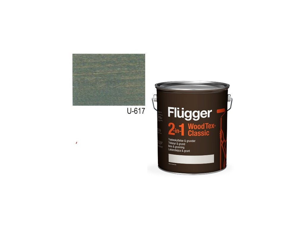 Flügger Wood Tex - Classic 2v1 (predtým Flügger 2v1 Classic) - lazúrovacia lak- 0,7l odtieň U-617