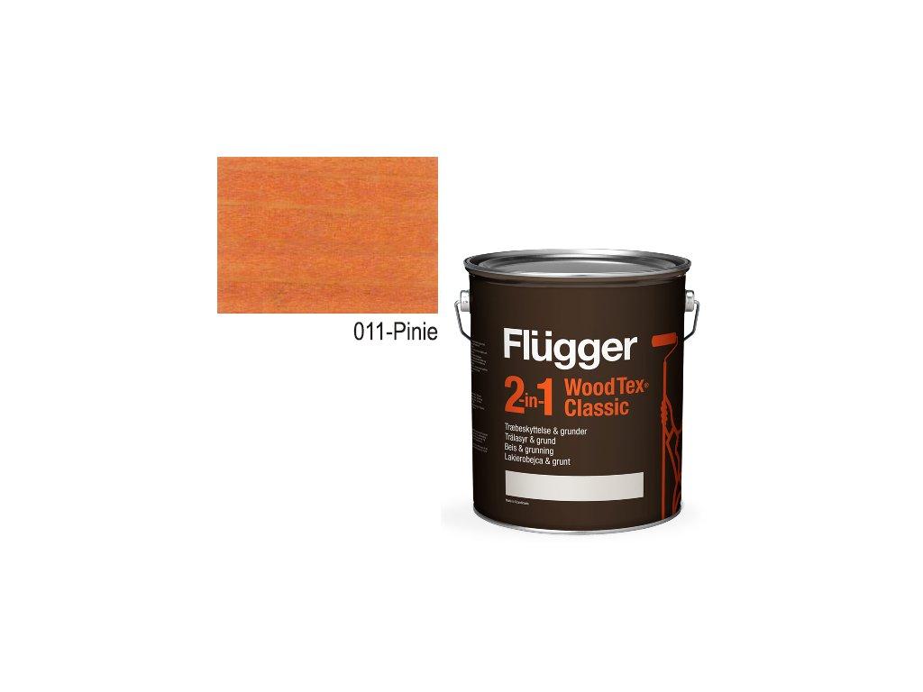 Flügger Wood Tex - Classic 2v1 (predtým Flügger 2v1 Classic) - lazúrovacia lak- 2,8l odtieň 011-Pinia