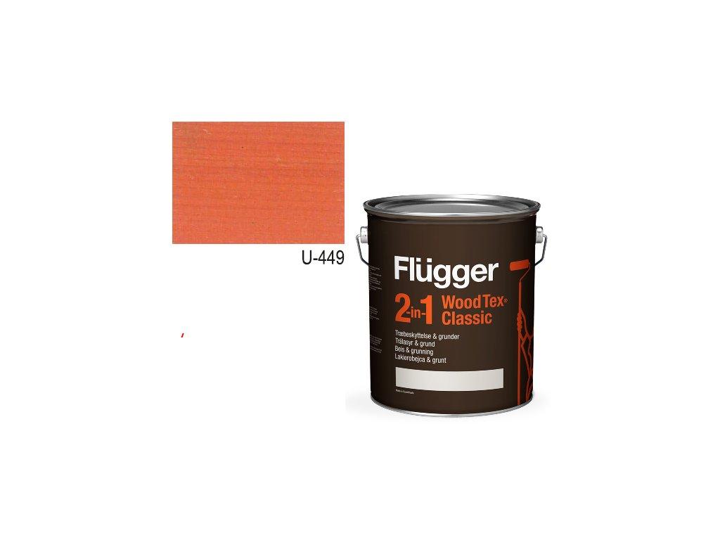 Flügger Wood Tex - Classic 2v1 (predtým Flügger 2v1 Classic) - lazúrovacia lak- 2,8l odtieň U-449