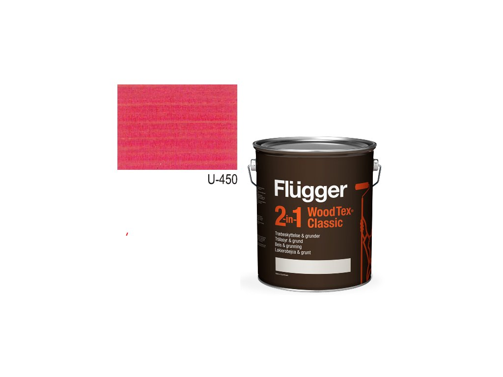 Flügger Wood Tex - Classic 2v1 (predtým Flügger 2v1 Classic) - lazúrovacia lak- 2,8l odtieň U-450