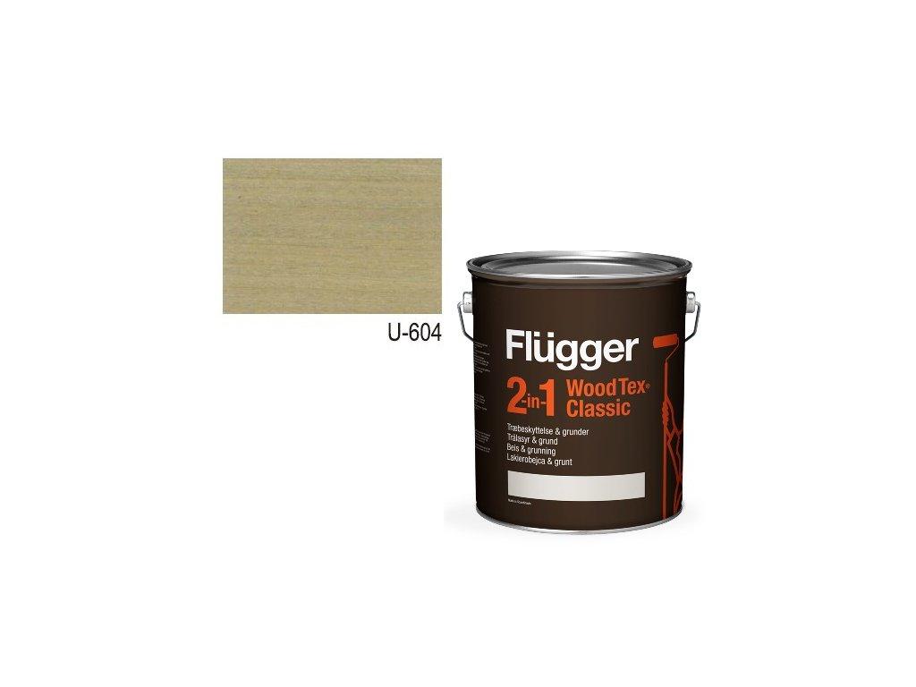 Flügger Wood Tex - Classic 2v1 (predtým Flügger 2v1 Classic) - lazúrovacia lak- 2,8l odtieň U-604
