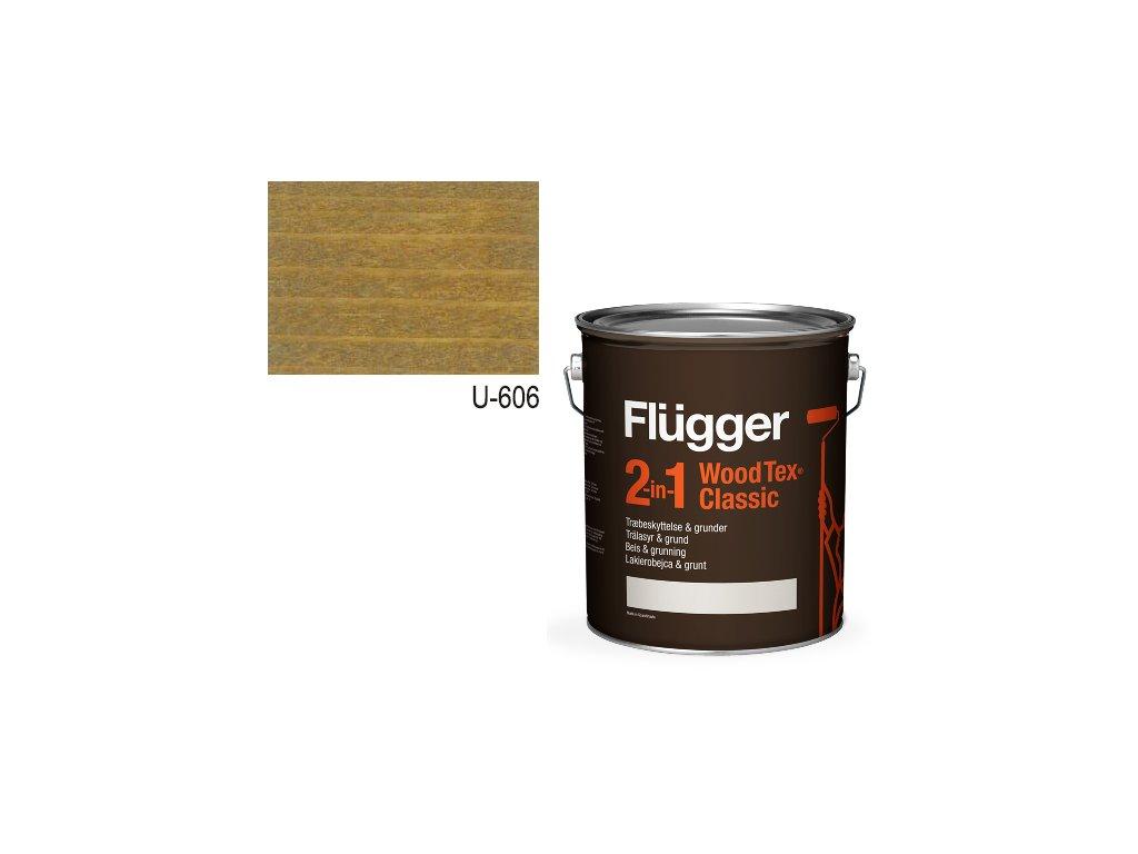 Flügger Wood Tex - Classic 2v1 (predtým Flügger 2v1 Classic) - lazúrovacia lak- 2,8l odtieň U-606