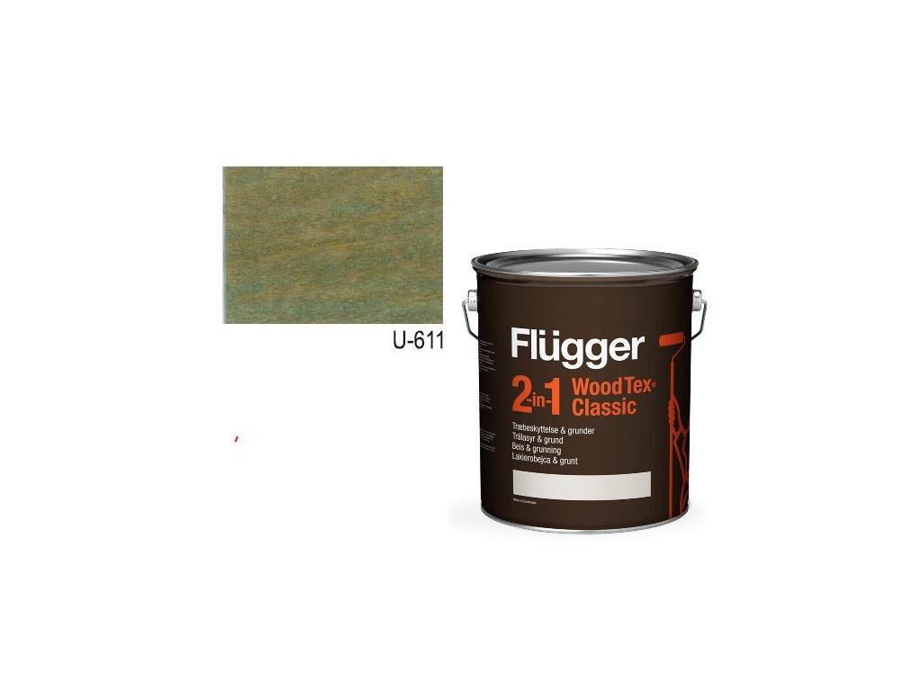 Flügger Wood Tex - Classic 2v1 (predtým Flügger 2v1 Classic) - lazúrovacia lak- 2,8l odtieň U-611