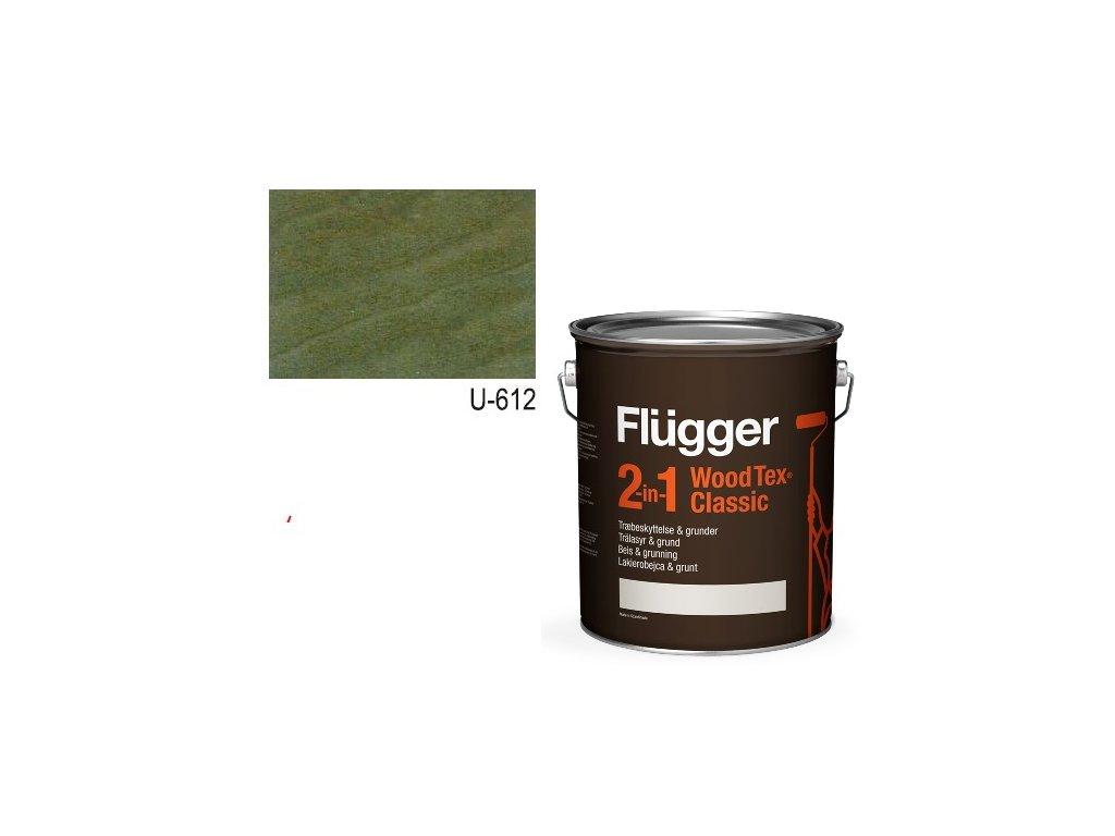Flügger Wood Tex - Classic 2v1 (predtým Flügger 2v1 Classic) - lazúrovacia lak- 2,8l odtieň U-612