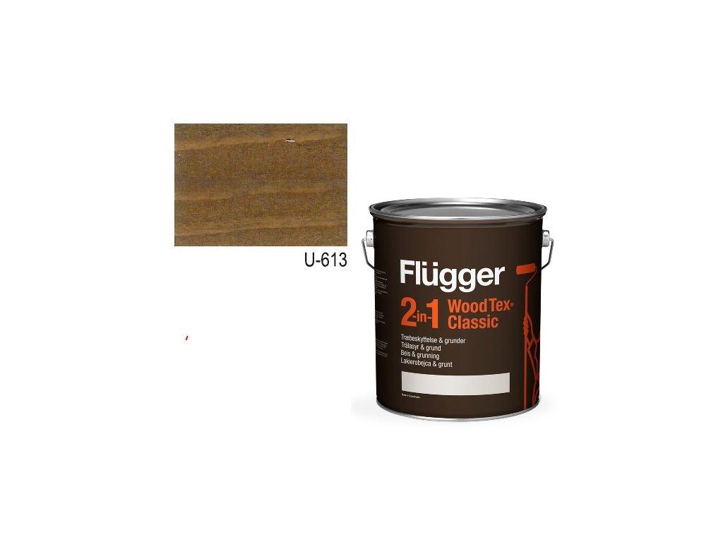 Flügger Wood Tex - Classic 2v1 (predtým Flügger 2v1 Classic) - lazúrovacia lak- 2,8l odtieň U-613