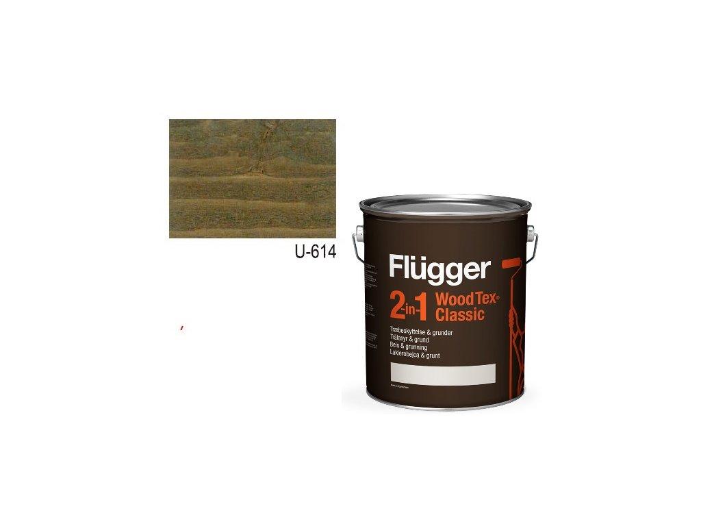 Flügger Wood Tex - Classic 2v1 (predtým Flügger 2v1 Classic) - lazúrovacia lak- 2,8l odtieň U-614