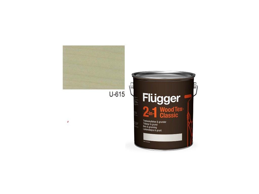Flügger Wood Tex - Classic 2v1 (predtým Flügger 2v1 Classic) - lazúrovacia lak- 2,8l odtieň U-615