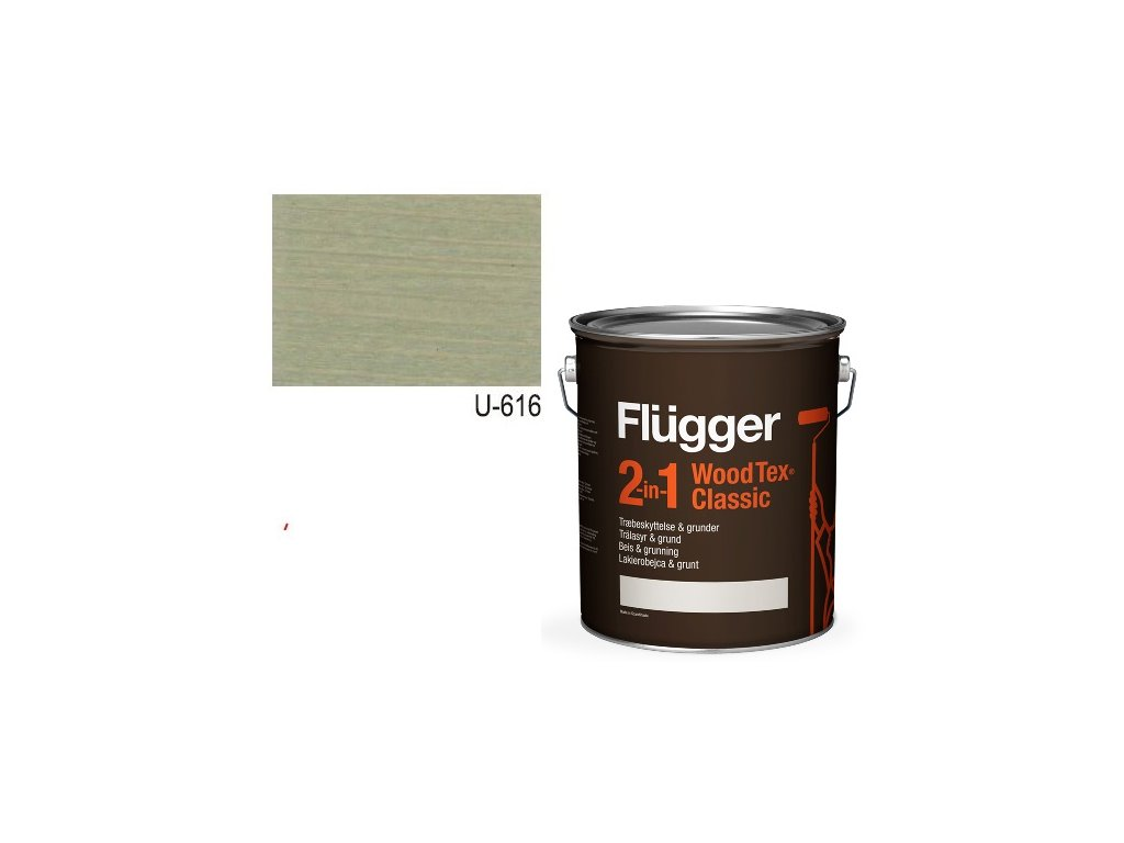 Flügger Wood Tex - Classic 2v1 (predtým Flügger 2v1 Classic) - lazúrovacia lak- 2,8l odtieň U-616