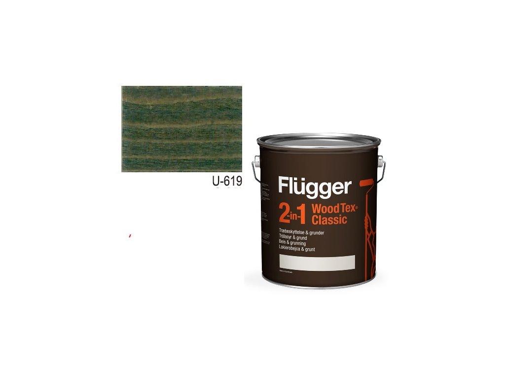 Flügger Wood Tex - Classic 2v1 (predtým Flügger 2v1 Classic) - lazúrovacia lak- 2,8l odtieň U-619