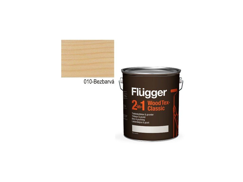 Flügger Wood Tex - Classic 2v1 (predtým Flügger 2v1 Classic) - lazúrovacia lak- 4,9l odtieň 010-Bezfarebná  + darček v hodnote až 7,5 EUR