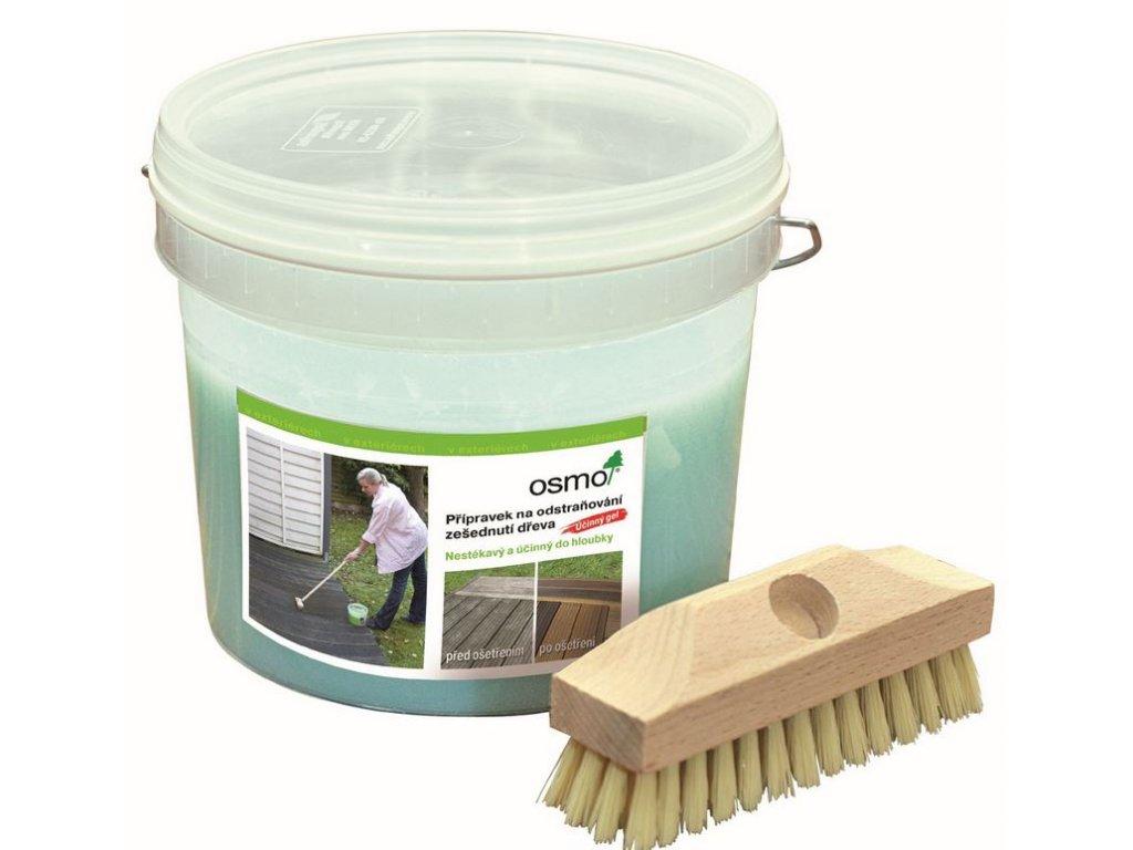 Osmo prípravok na odstraňovanie zošednutie dreva 2,5l (odsivovač) 6609 + kefa