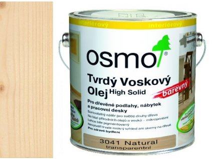 Osmo tvrdý voskový olej FAREBNÝ 0,75l NATURAL TRANSPARENT 3041